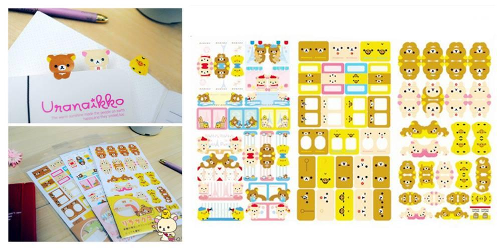 SY0201 ICONIC RILAKKUMA STICKER SET (2PCS)