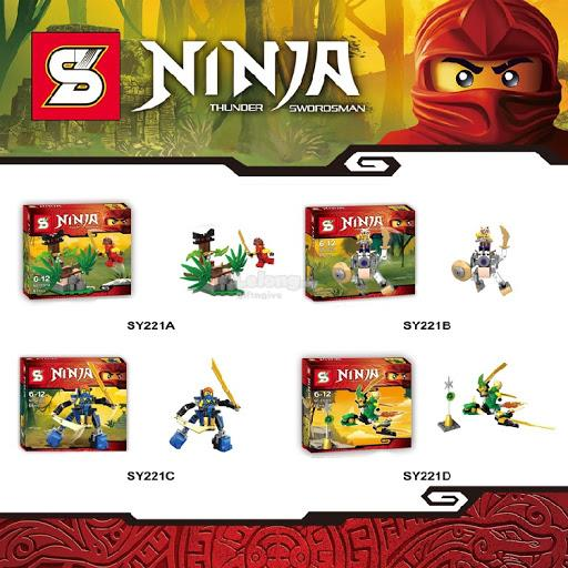 SY221 Ninjago Spinjitzu Phantom Ninja (4 in 1)