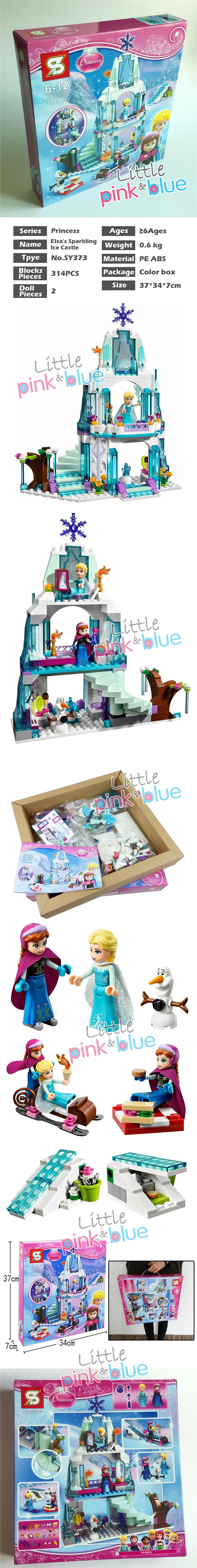 SY373 Elsa's Sparkling Ice Castle Building Blocks