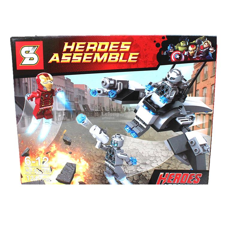 SY383A Super Heroes Iron Man (124pcs)