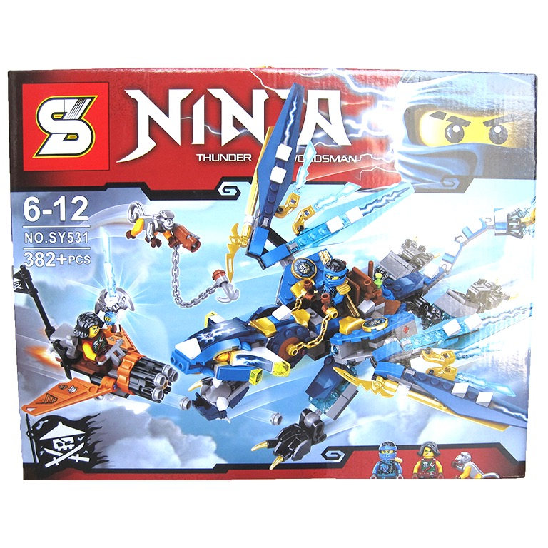 SY531 Ninjago Jay's Elemental Dragon Model (382pcs)