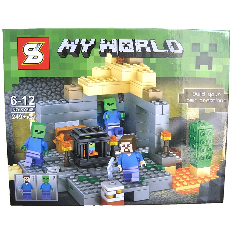SY543 Minecraft Zombie Steven Dungeons (249pcs)