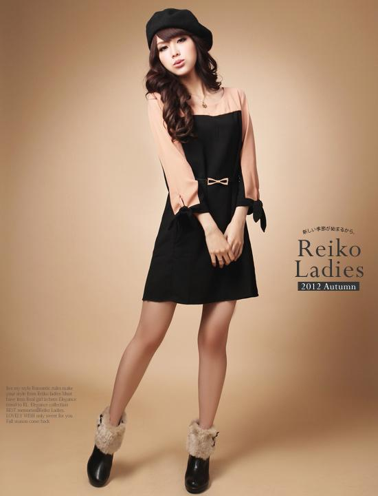 Sy5796 Korean Style Long Sleeve Dress
