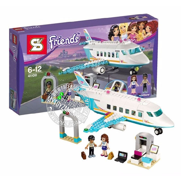 SY807 Friends Heartlake Private Jet Building Blocks