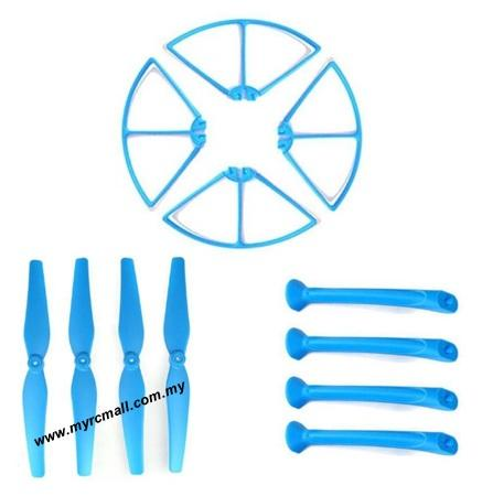 Syma X8C X8W X8HC X8HW RC Quadcopter Propeller Landing Skid Guard Blue