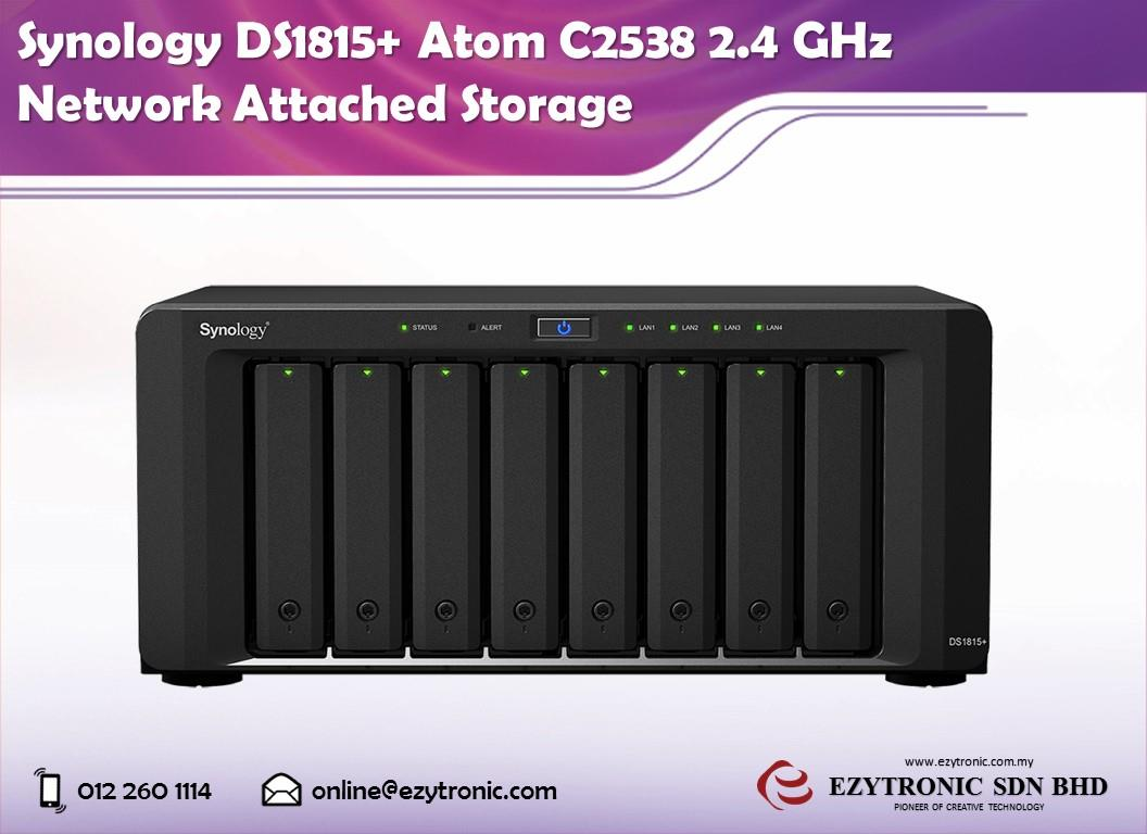 Synology DS1815+ Atom C2538 2.4 GHz Network Attached Storage