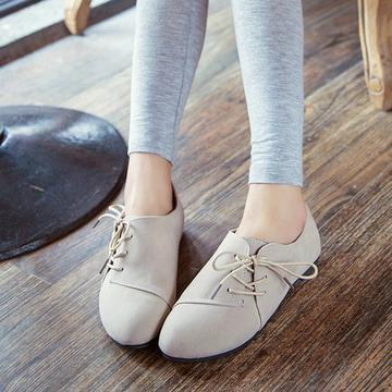 T008430 Korean Influx Comfort Casual Flat Lace Stylish Shoes