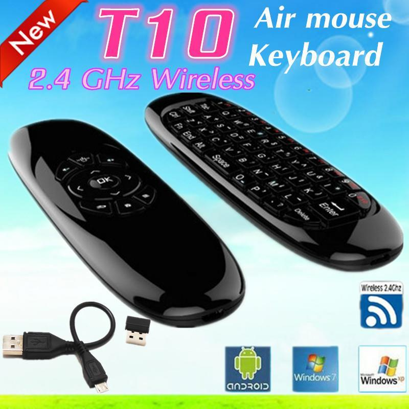 T10 air mouse Android tv box mini wireless keyboard remote control