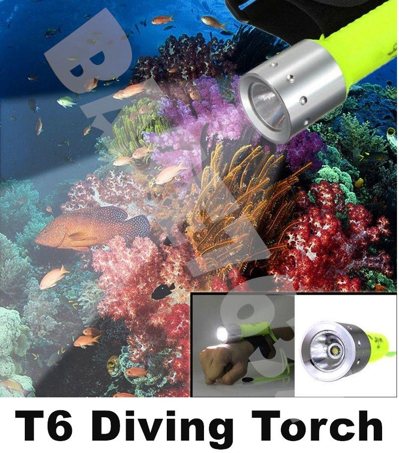 T6  Led Diving Flashlight Torch Light Waterproof Swimming