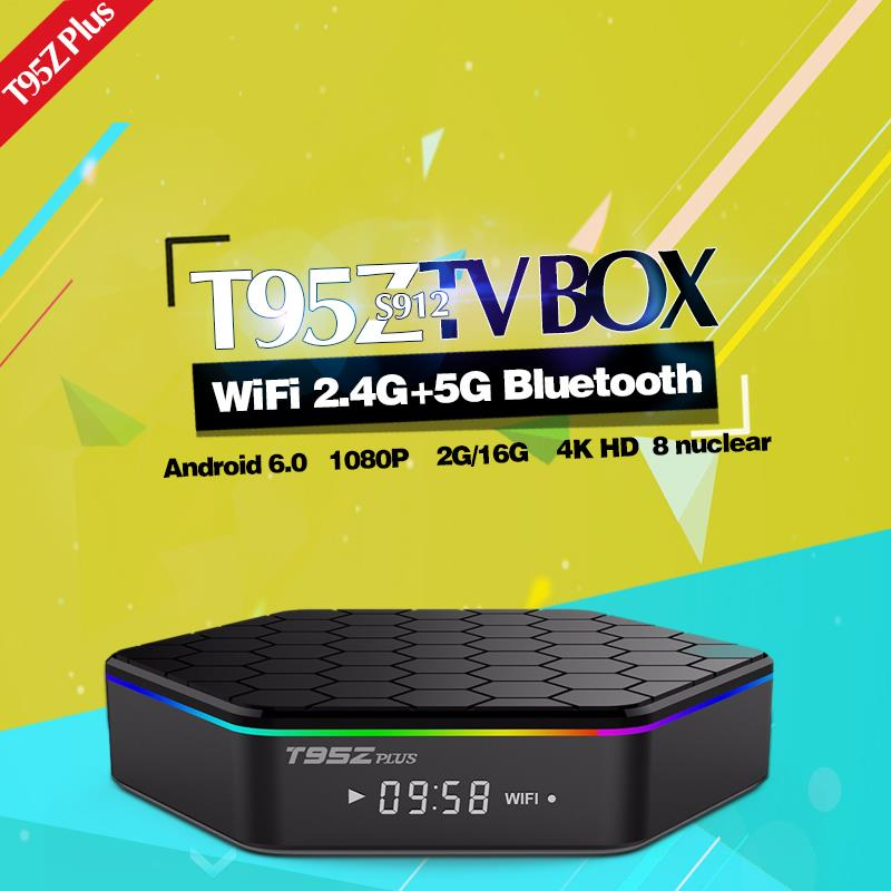 T95Z Plus S912 TV Box 8 nuclear 2G/16G Android6.0 WiF 4K HD Play