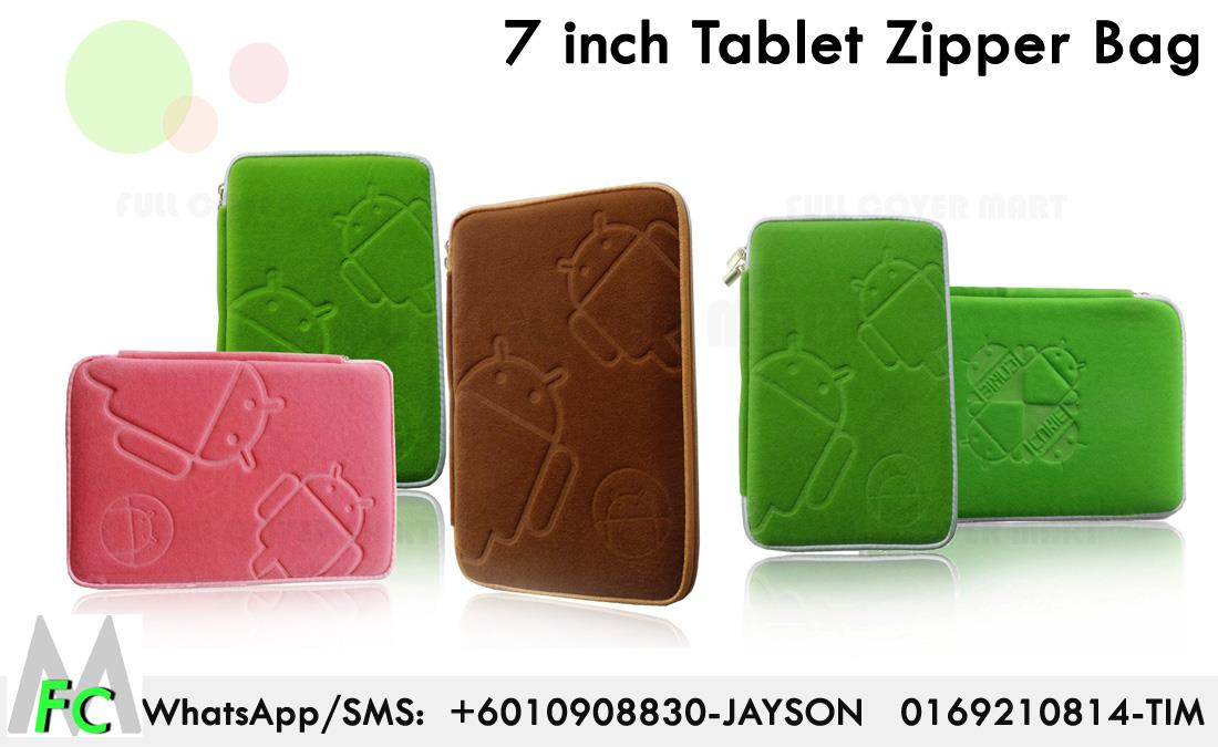 Tablet Bag Android 7 inch  Zipper Android Robot Sleeve Case