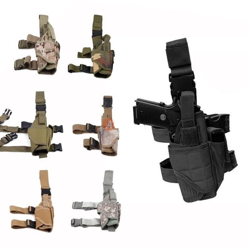 TACTICAL MILITARY NYLON DROP LEG HOLSTER TN
