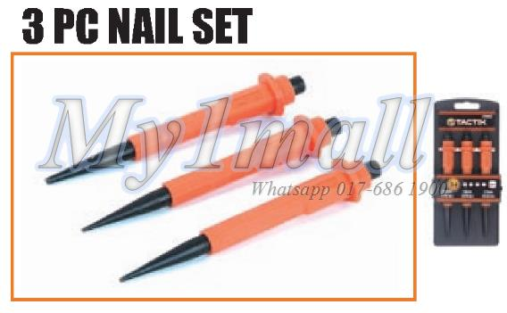 TACTIX 230033 3PC NAIL SET