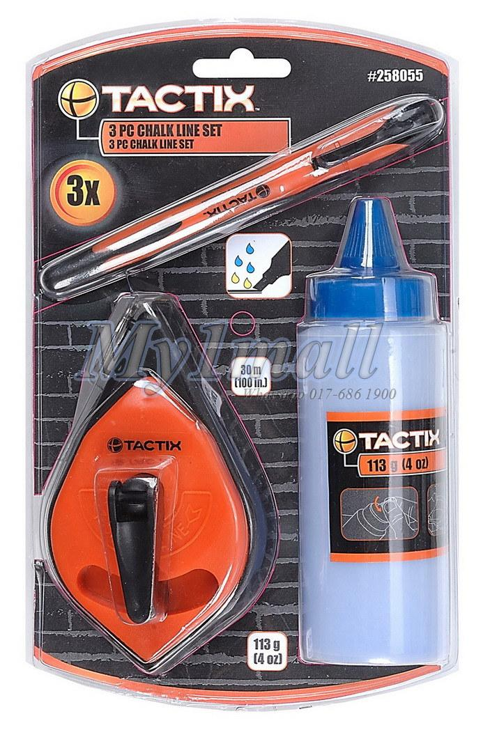 TACTIX 258055 CHALK LINE 3PC SET