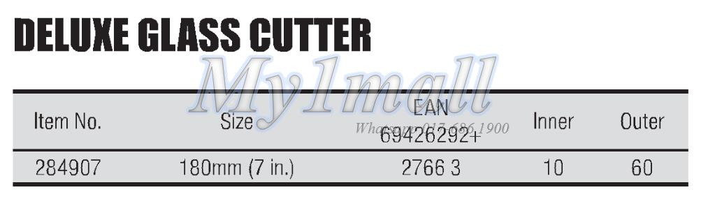"TACTIX 284907 DELUXE GLASS CUTTER 180MM (7"")"