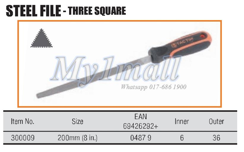 "TACTIX 300009 200MM/8"" STEEL FILE"