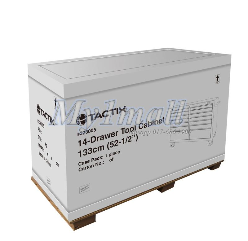 TACTIX 326005 14 DRAWER TOOL CABINET 133CM 52.5""