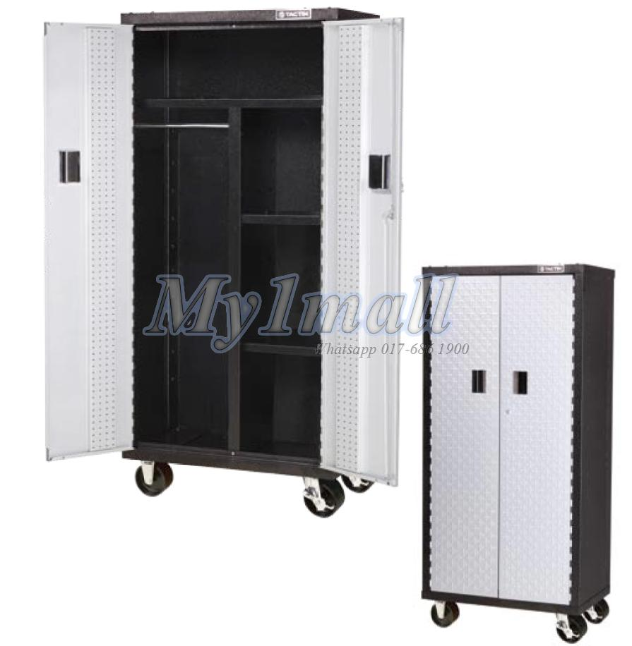 TACTIX 326215 TALL LOCKER CABINET 2 DOOR 76CM