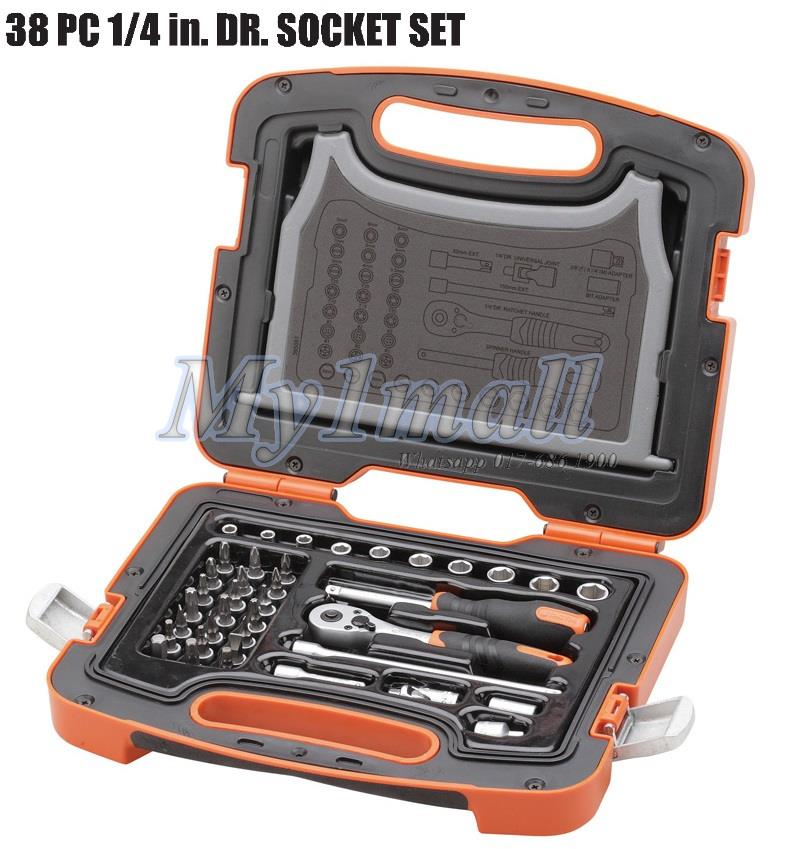 "TACTIX 365051 SOCKET SET 38PC 1/4""DR"