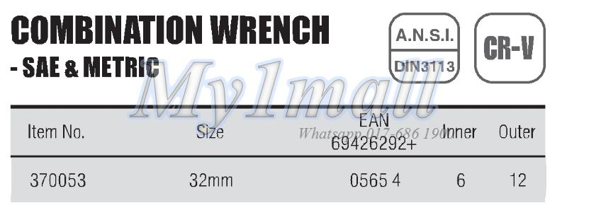 TACTIX 370053 WRENCH COMBINATION 32MM