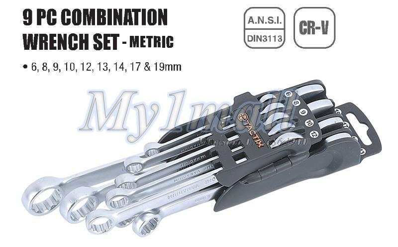 TACTIX 370501 WRENCH COMBINATION 9PC SET