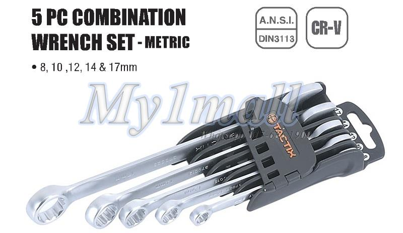 TACTIX 370511 WRENCH COMBINATION 5PC SET