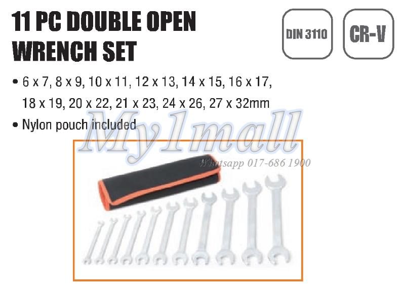 TACTIX 372411 11PC DOUBLE OPEN WRENCH SET