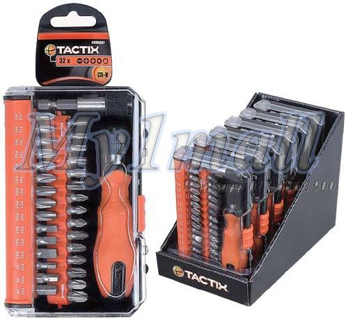 TACTIX 900017 BIT SET 32PCS METRIC