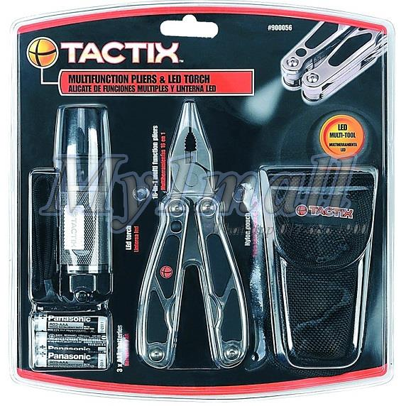 TACTIX 900056 Multi Functional tool set with LED Torch Light