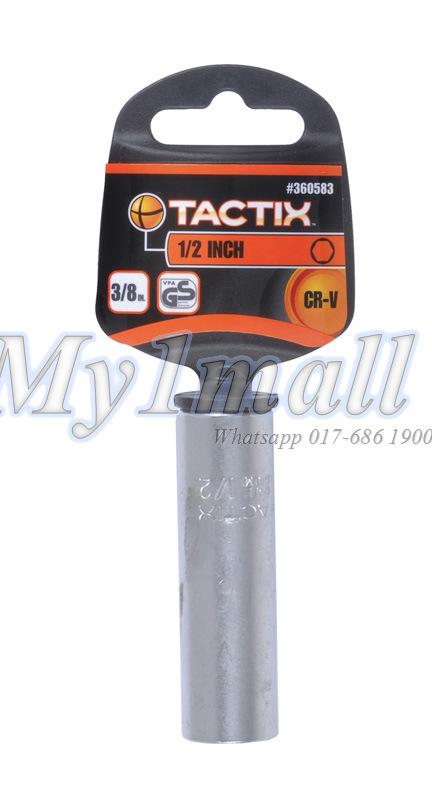 "TACTIX SOCKET 3/8""DR 6PT DEEP - SET D"