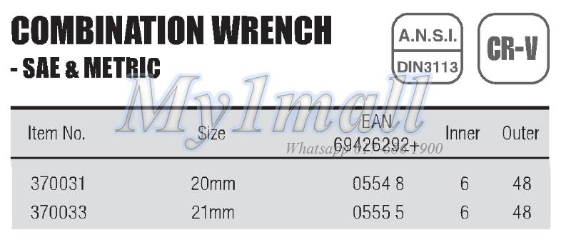 TACTIX WRENCH COMBINATION 20mm,21mm-SET F