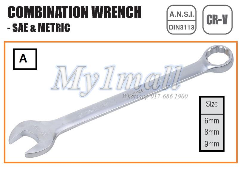 TACTIX WRENCH COMBINATION 6mm,8mm,9mm-SET A