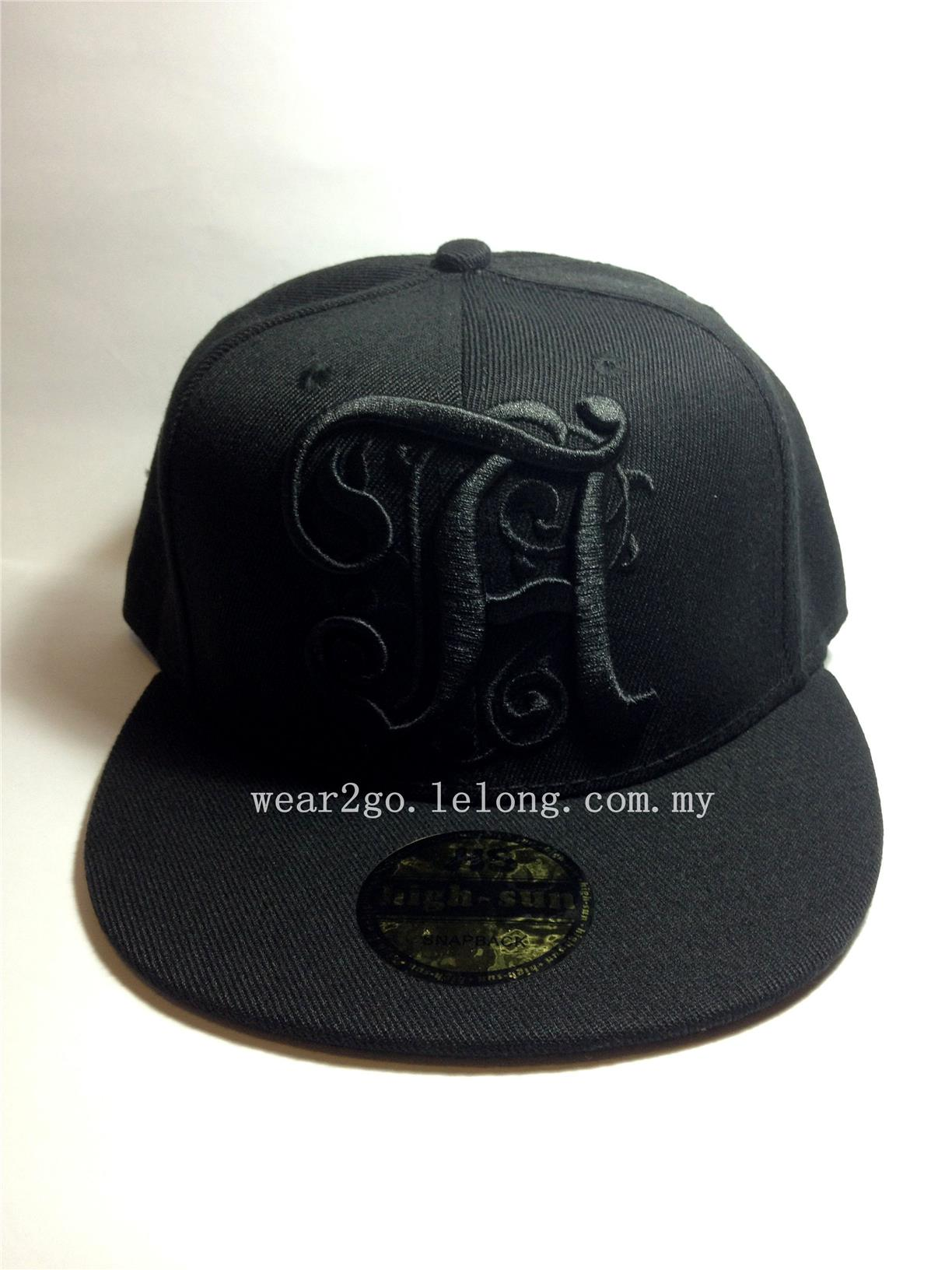 TAEYANG Snapback in Black Color & Black Logo