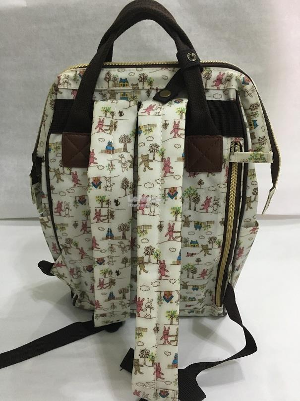 Taiwan Dolly Club wide-opening waterproof canvas backpack bag (S)
