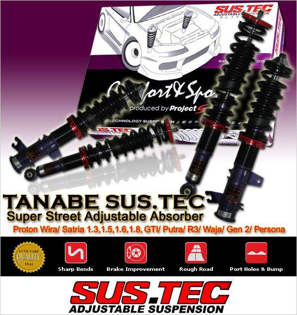 TANABE SUSTEC Super Street Adjustable Absorber: WIRA/SATRIA/PUTRA