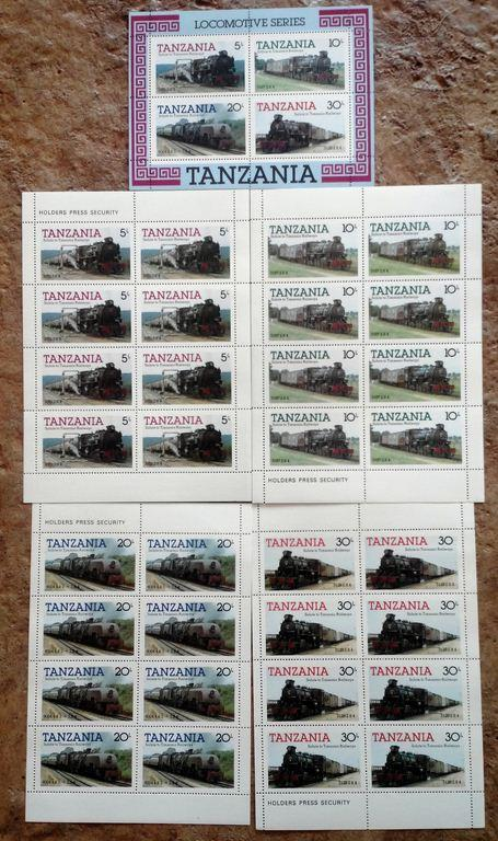 Tanzania stamps 4 miniature sheets #271-274a