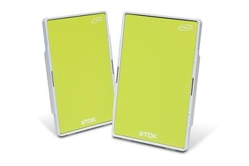 TDK FLAT PANEL PORTABLE STEREO SPEAKERS