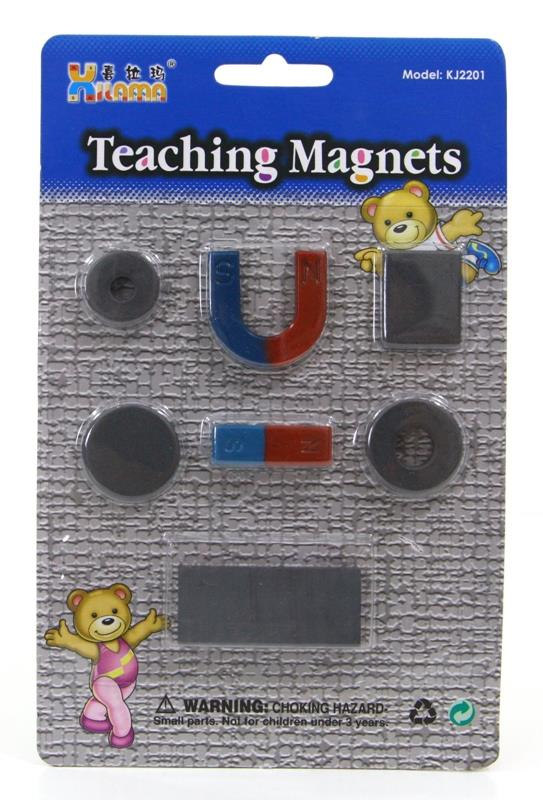Teaching Magnets Set School Experiment Usage 7pcs