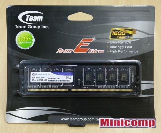 Team Elite 4GB DDR3 1600 Mhz Desktop RAM Low Voltage