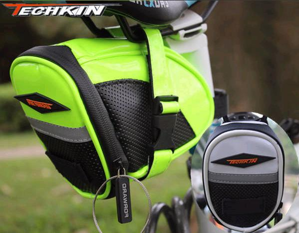 TECHKIN Bicycle Bike Tube Saddle Seat Pouch Bag Cycling MTB Road Bikes
