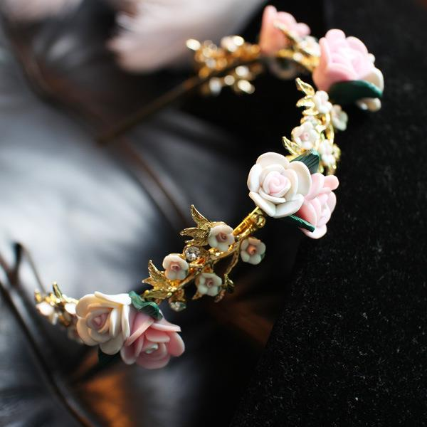 teekaafashion 2016 Korea Handmade Premium Flower Fairy Hairband*Rose01