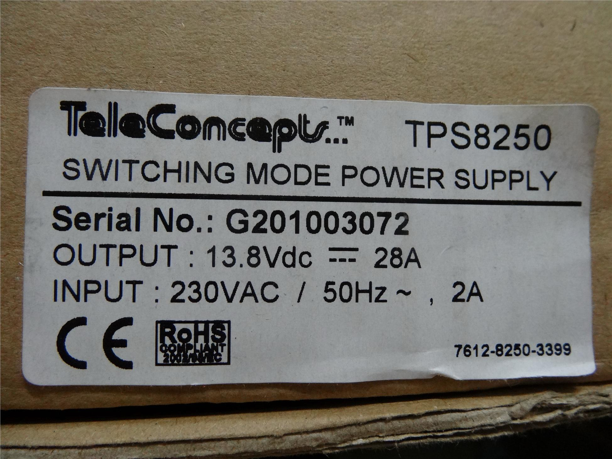 TELECONCEPTS TPS 8250 Power Supply@28Amp