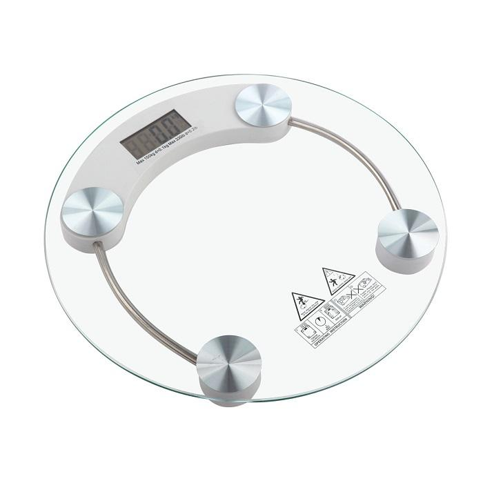 Tempered Glass Digital Round-Shape Body Weighting Weight Scale