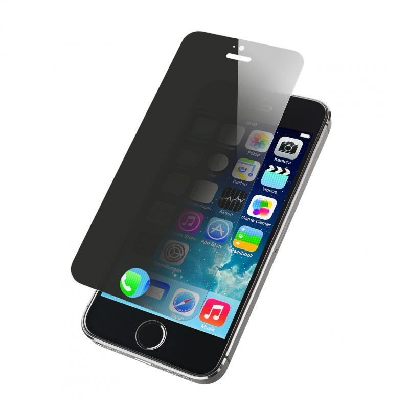 TEMPERED PRIVACY GLASS SCREEN PROTECTOR COMPATIBLE WITH APPLE IPHONE 5