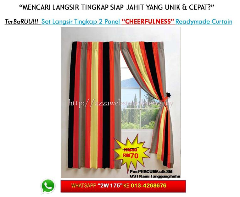 Terbaru* Langsir Tingkap 2 Panel 'CHEERFULNESS' Curtain Window