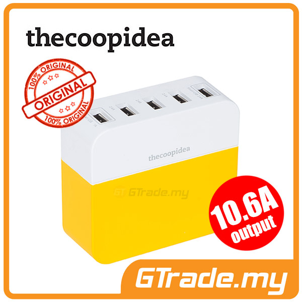THECOOPIDEA 10.6A 5USB Charger Station YL Apple iPad Air Retina 4 3 2