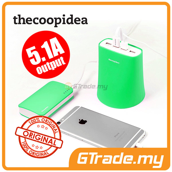 THECOOPIDEA 5.1A 4USB Charger Station GR Apple iPhone 6S 6 Plus 5S 5