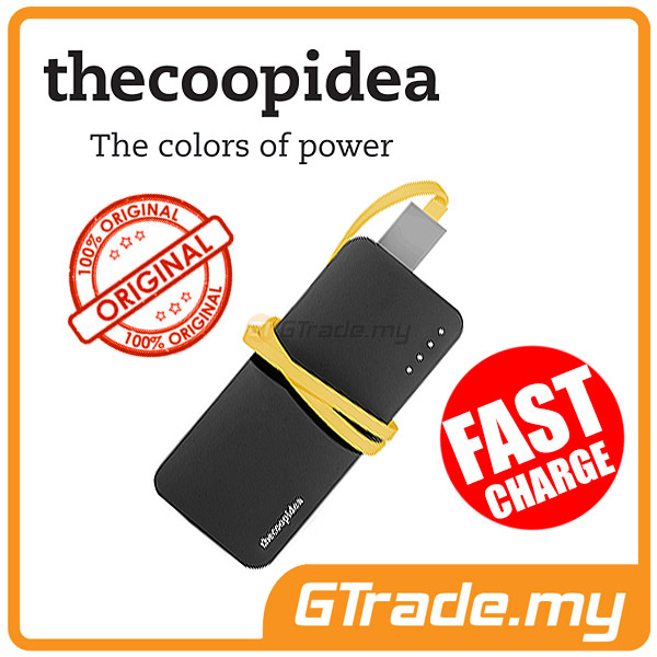 THECOOPIDEA 5200 mAh PowerBank Touch Light 2.4A Fast Charger | Black