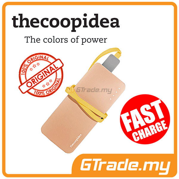 THECOOPIDEA 5200 mAh PowerBank Touch Light 2.4A Fast Charger | Gold