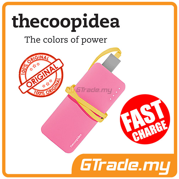 THECOOPIDEA 5200 mAh PowerBank Touch Light 2.4A Fast Charger | Pink